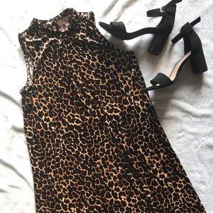GB girls leopard sleeveless dress *worn once*